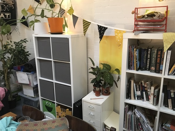 photo of: Chill-out room activity boxes/books