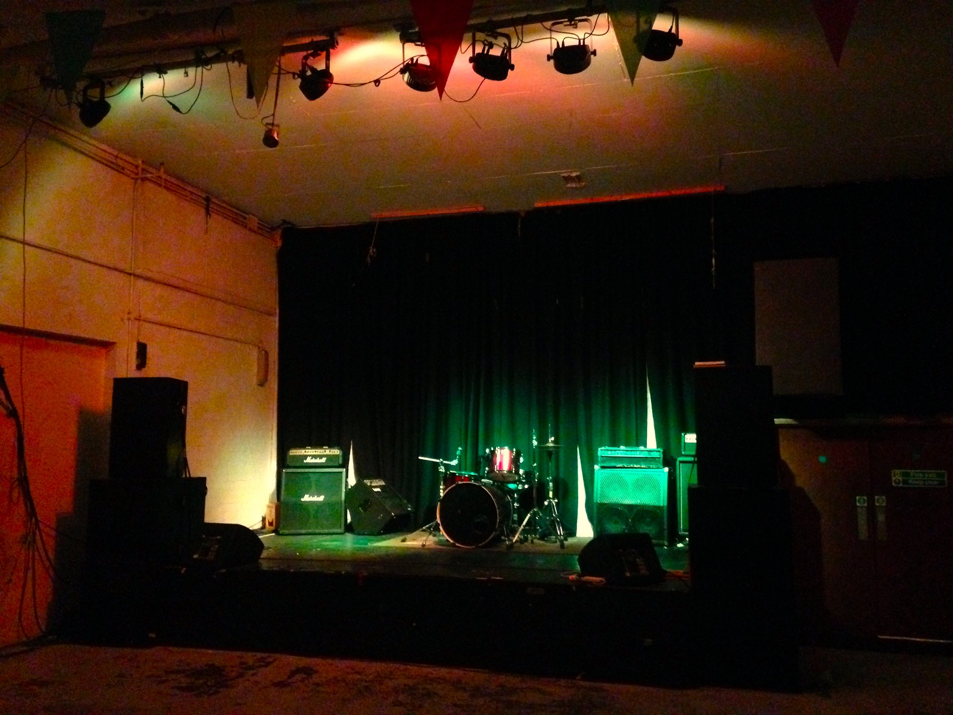 photo of: Stage with stage lighting